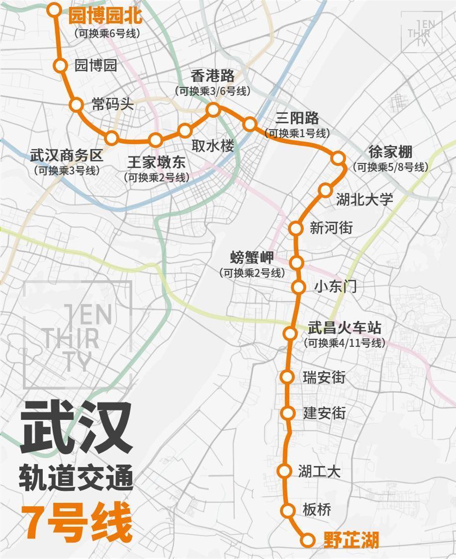 地铁七号线年底开通!江夏庙山居民去汉口又多了一个新